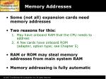 memory addresses