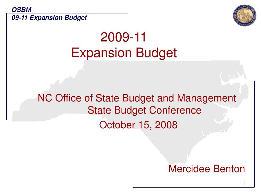 2009 11 expansion budget l.