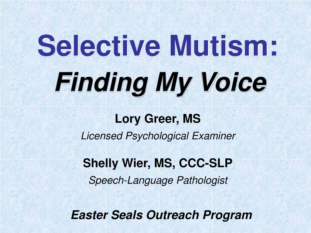 an overview of selective mutism essay Dyslexia: an overview adhd: use the essay keys to college dyslexia—also referred to as language-learning disabilities or reading disabilities—accounts.
