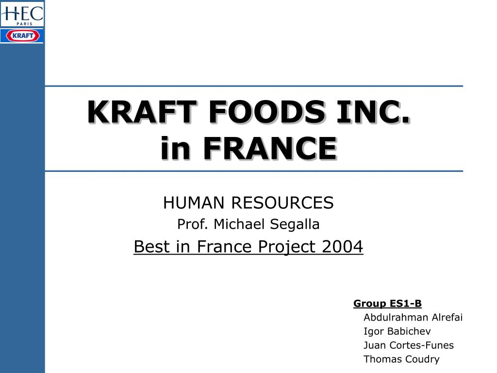 kraft foods inc in france l.
