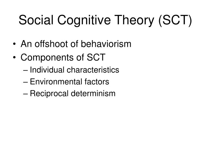 Social cognitive theory sct