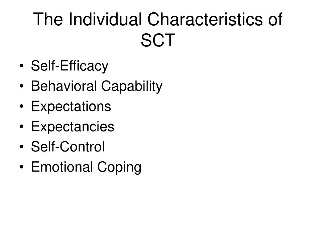 The Individual Characteristics of SCT