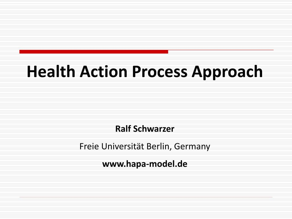 Health Action Process Approach