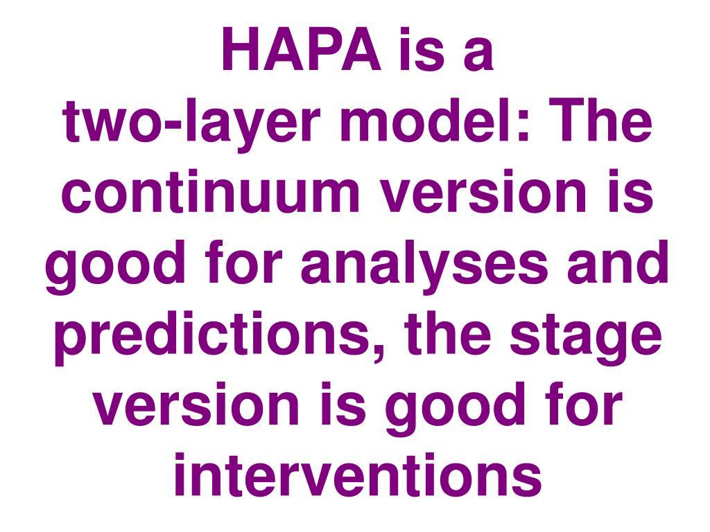 HAPA is a
