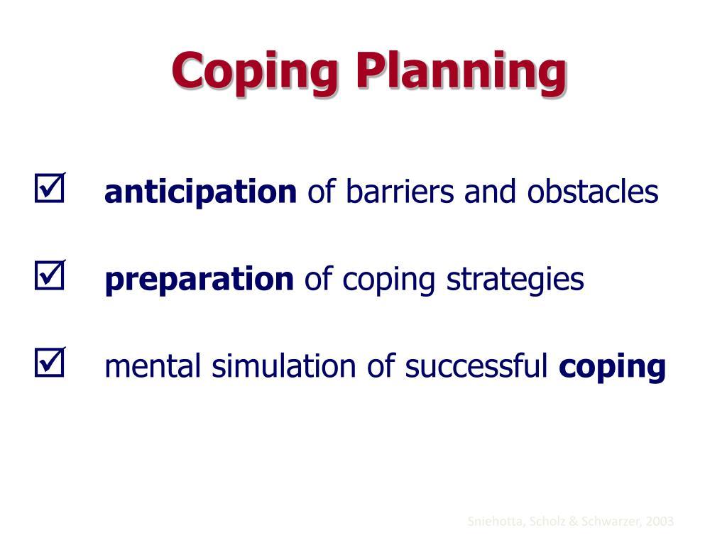 Coping Planning