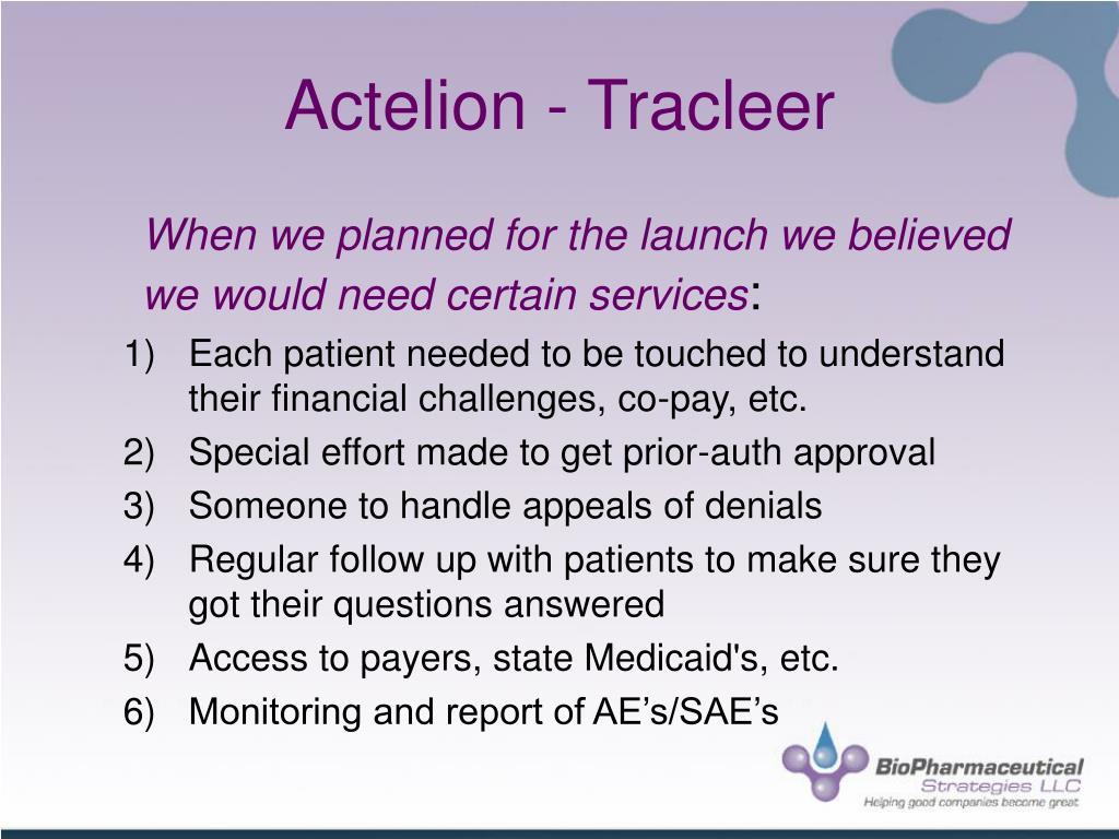 Actelion - Tracleer