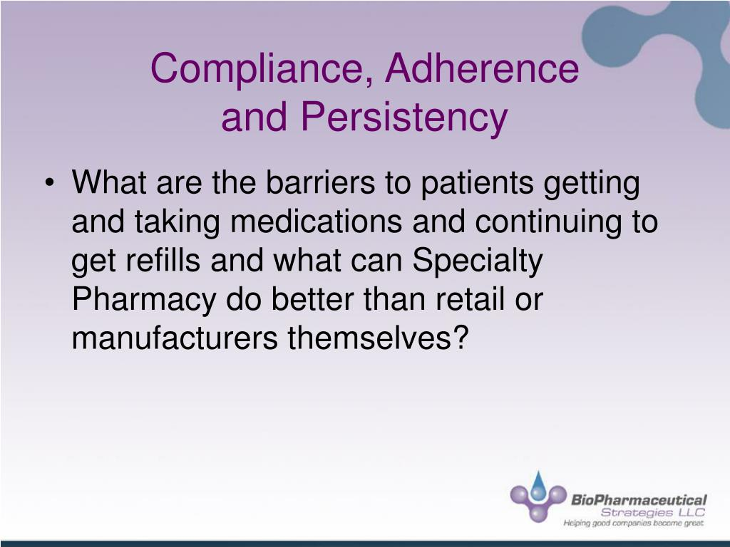 Compliance, Adherence