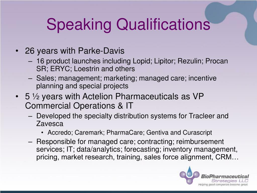 Speaking Qualifications