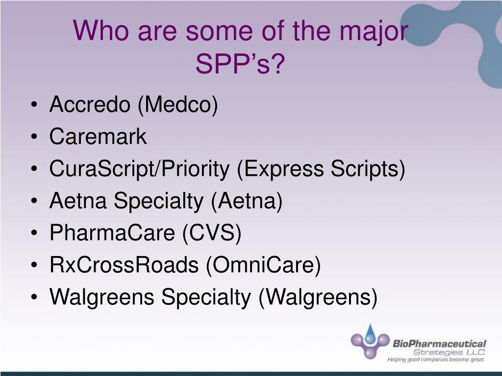 Who are some of the major SPP's?