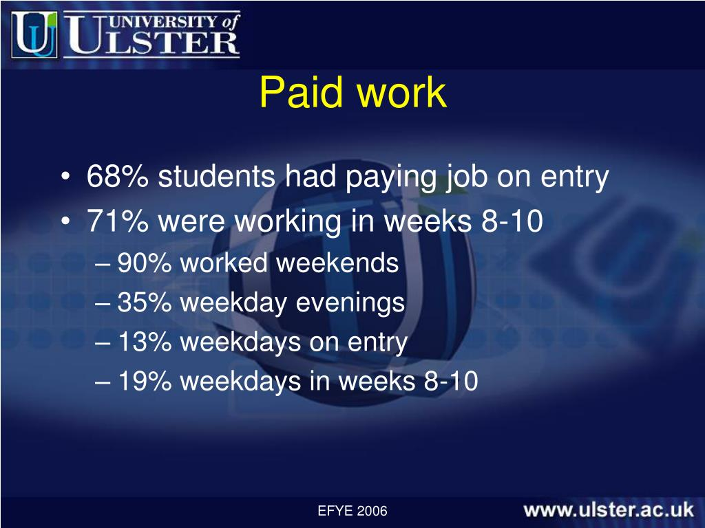Paid work