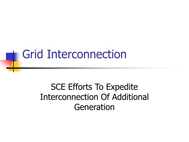 grid interconnection n.