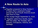 a new route to asia