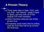a proven theory