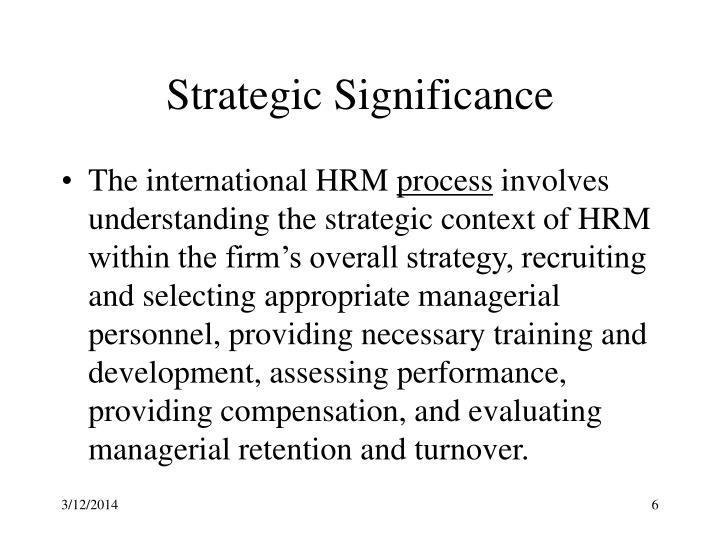 significance of ihrm