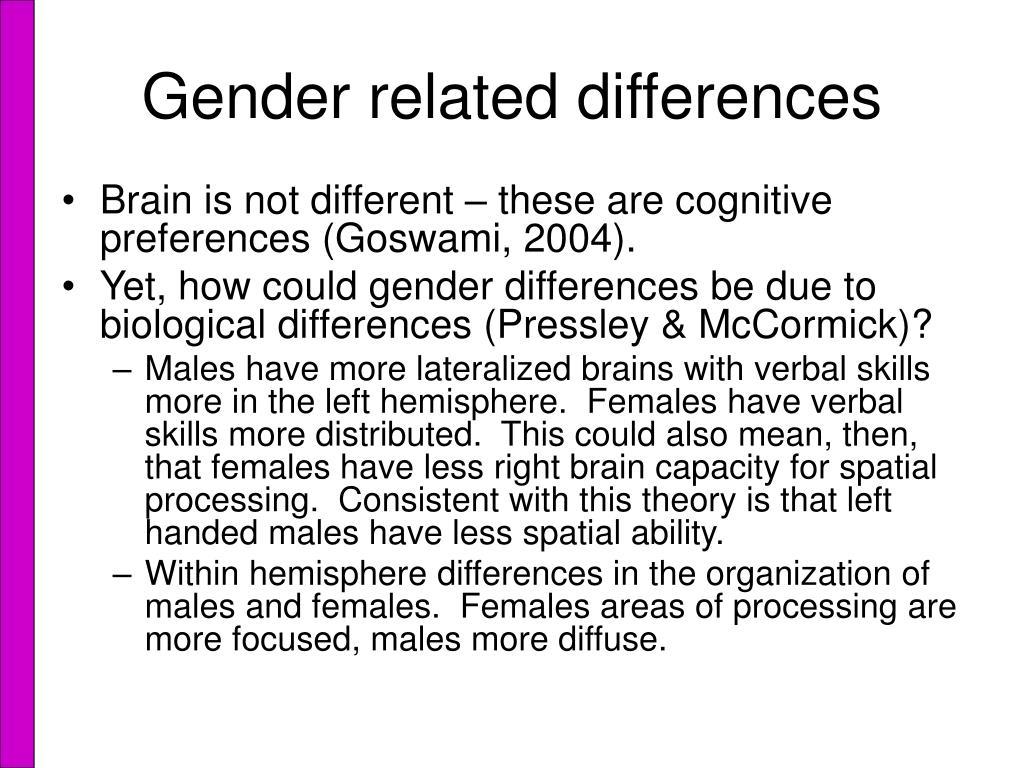 kimura d. sex differences in the brain in Salford