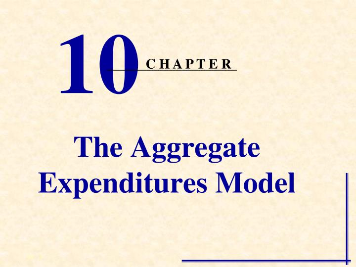 the aggregate expenditures model n.