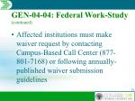gen 04 04 federal work study continued