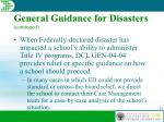 general guidance for disasters continued35