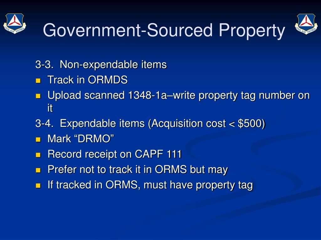 Government-Sourced Property