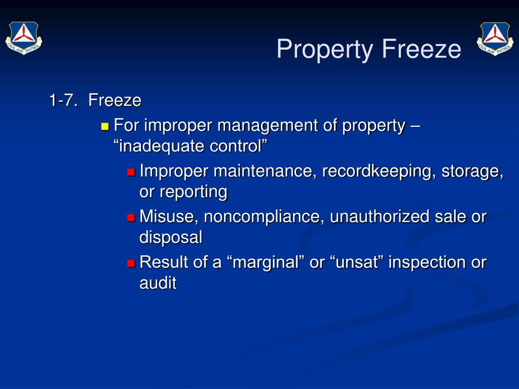 Property Freeze