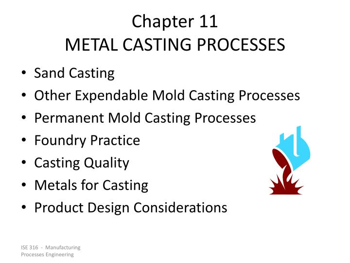 chapter 11 metal casting processes n.