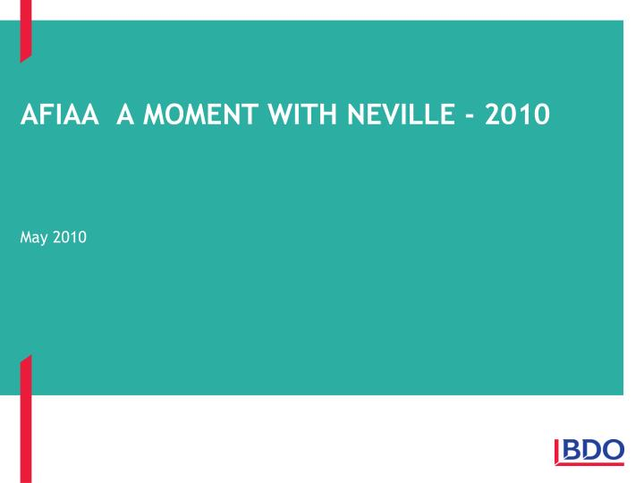 afiaa a moment with neville 2010 n.