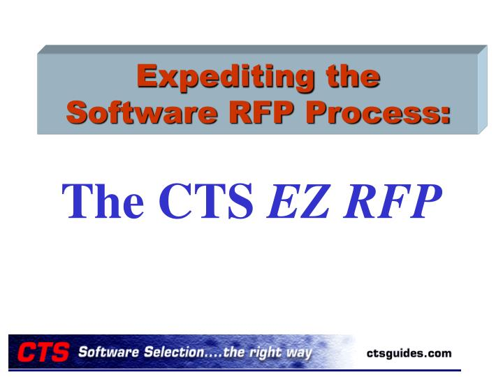expediting the software rfp process n.