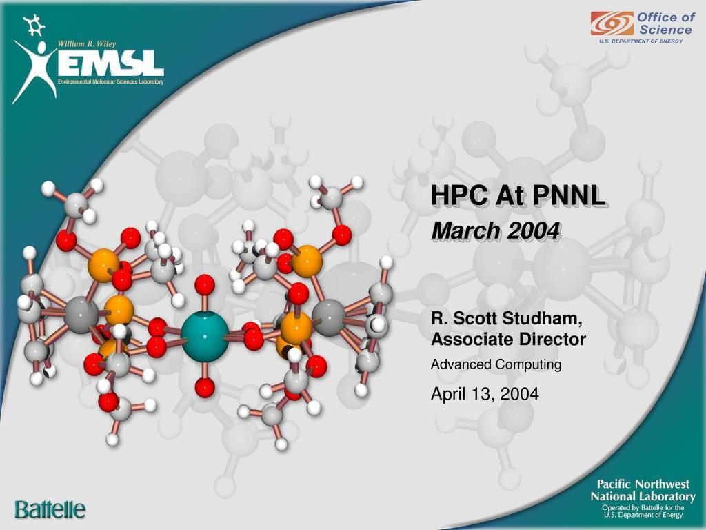 HPC At PNNL