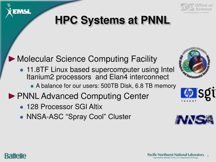 Hpc systems at pnnl