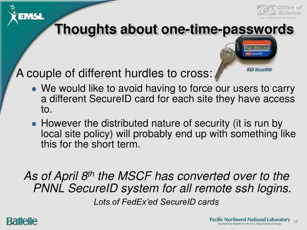Thoughts about one-time-passwords