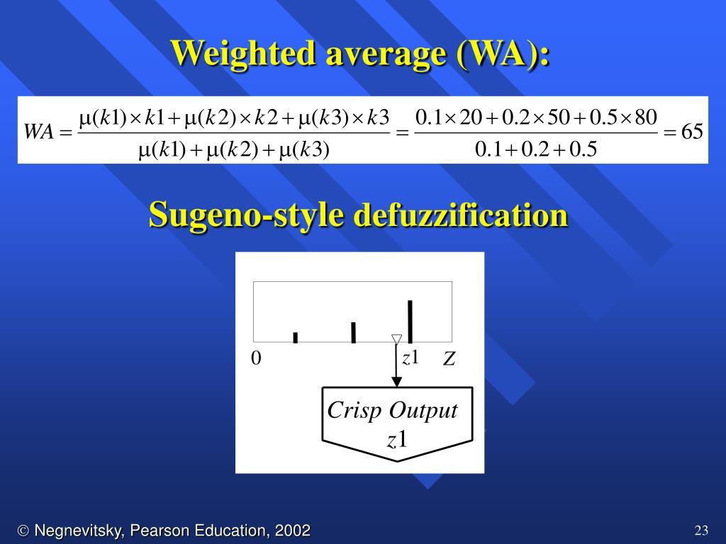 Weighted average (WA):