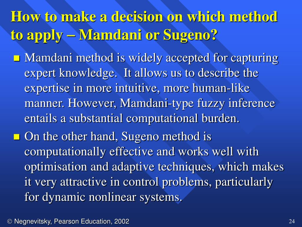 How to make a decision on which method to apply