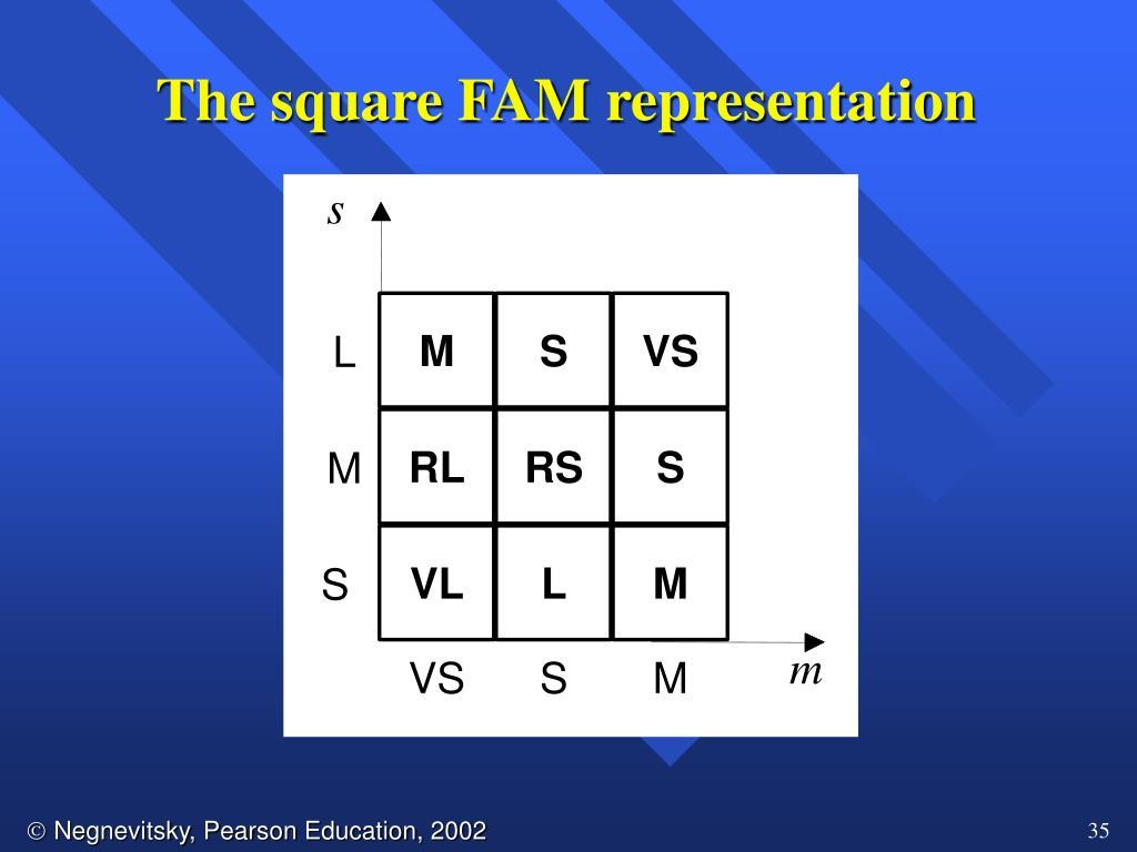 The square FAM representation
