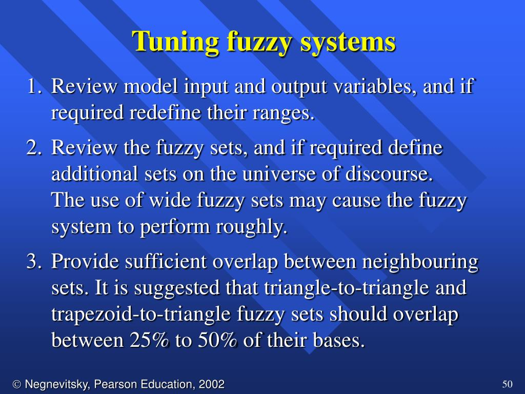 Tuning fuzzy systems