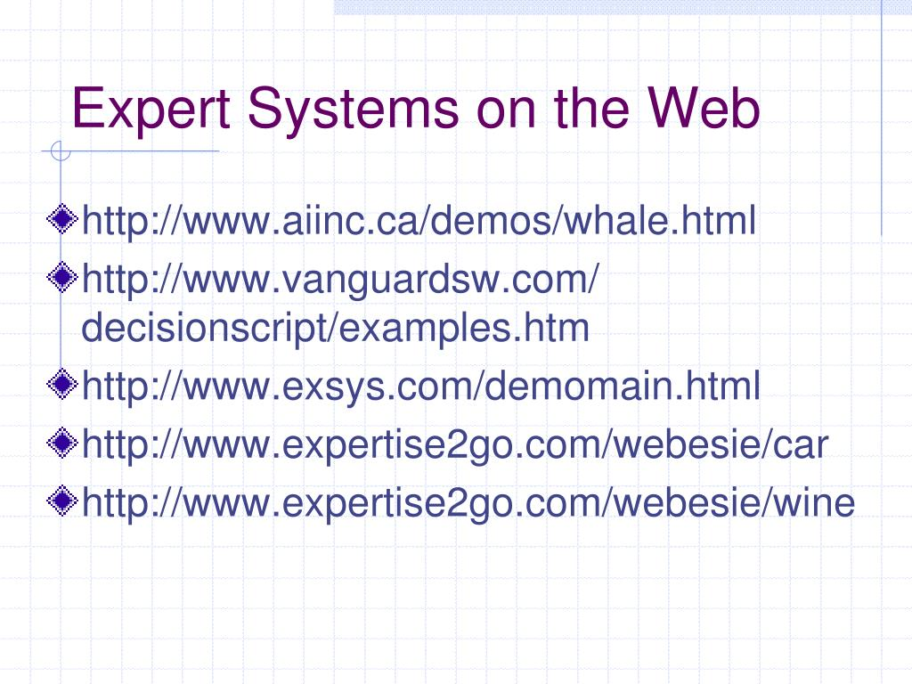 Expert Systems on the Web