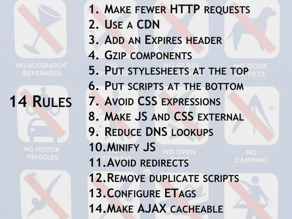 Make fewer HTTP requests