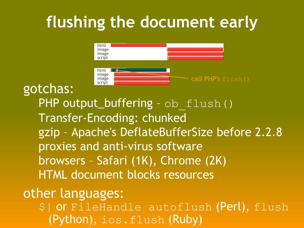 flushing the document early