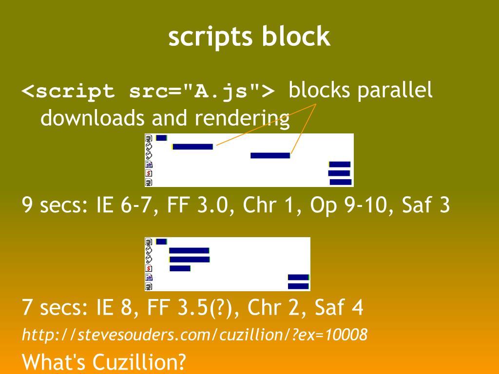 scripts block