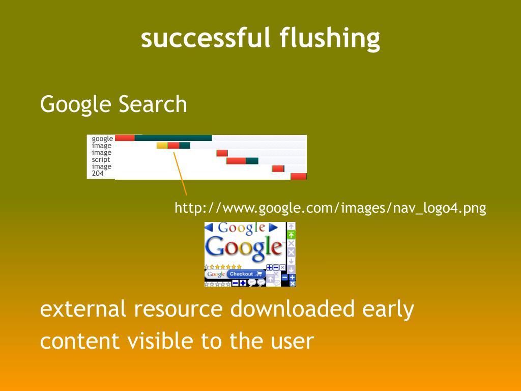 successful flushing