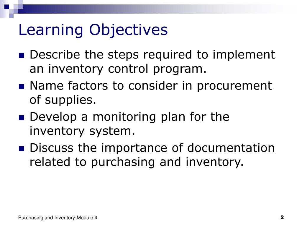 PPT - Purchasing and Inventory PowerPoint Presentation - ID