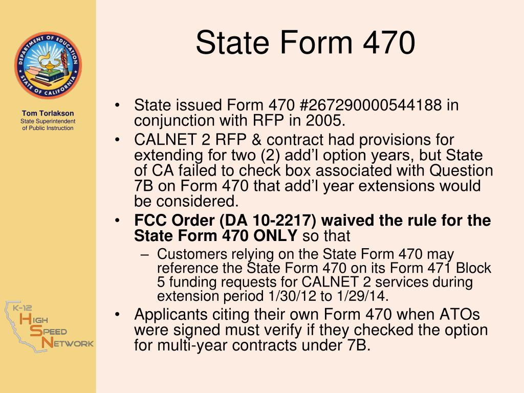 State Form 470