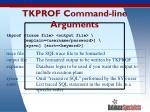 tkprof command line arguments