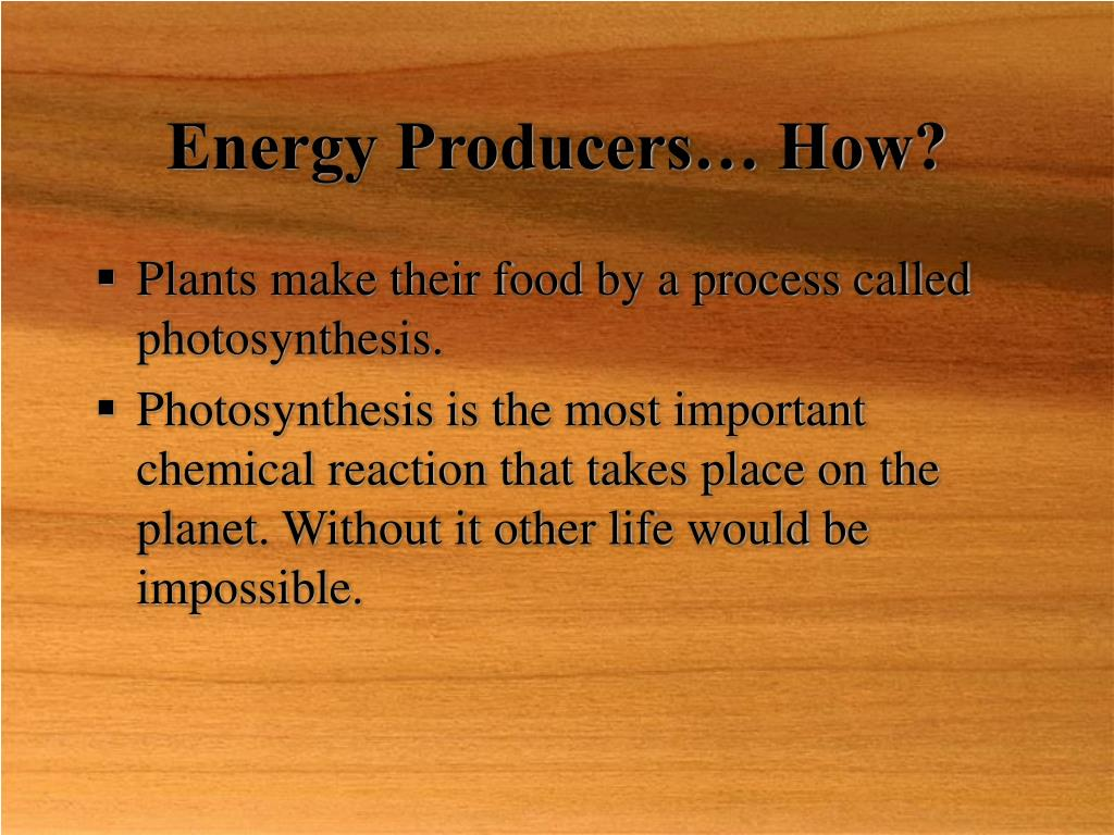 Energy Producers… How?