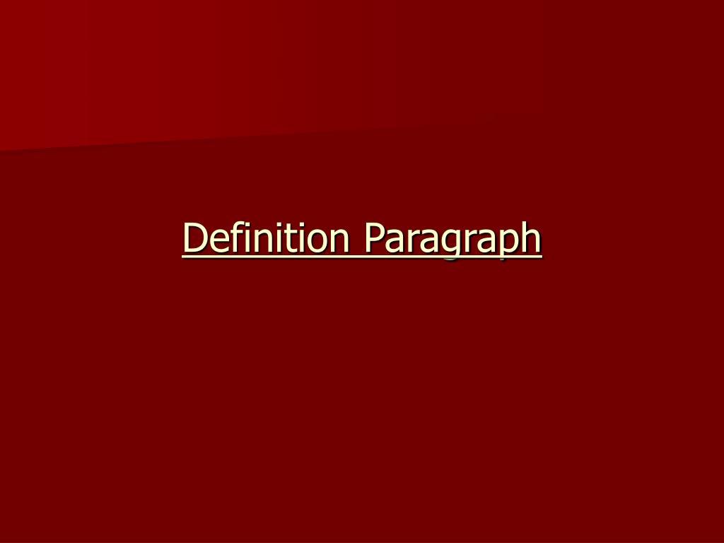 definition paragraph l.