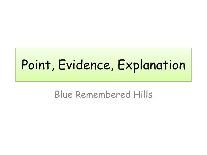 blue remembered hills essay help