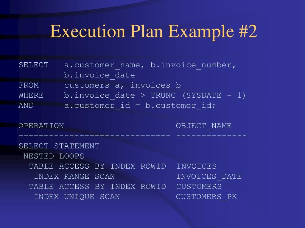 Execution Plan Example #2