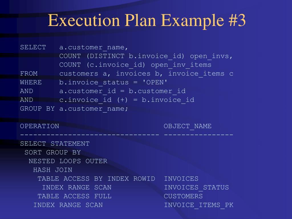 Execution Plan Example #3