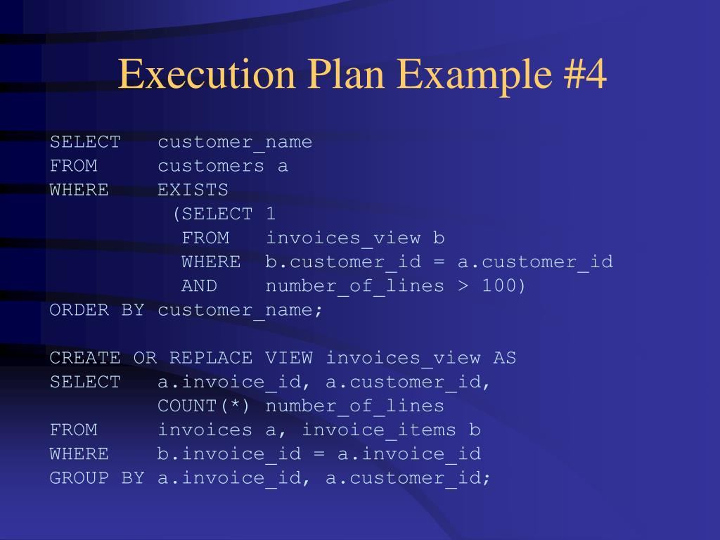 Execution Plan Example #4