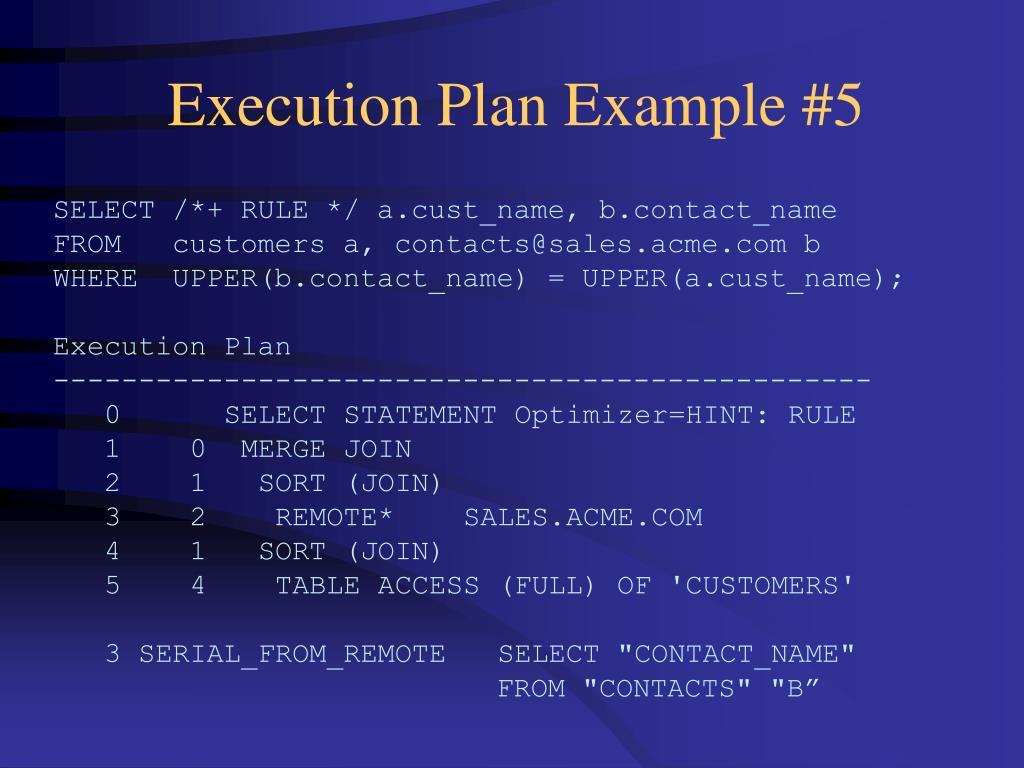 Execution Plan Example #5