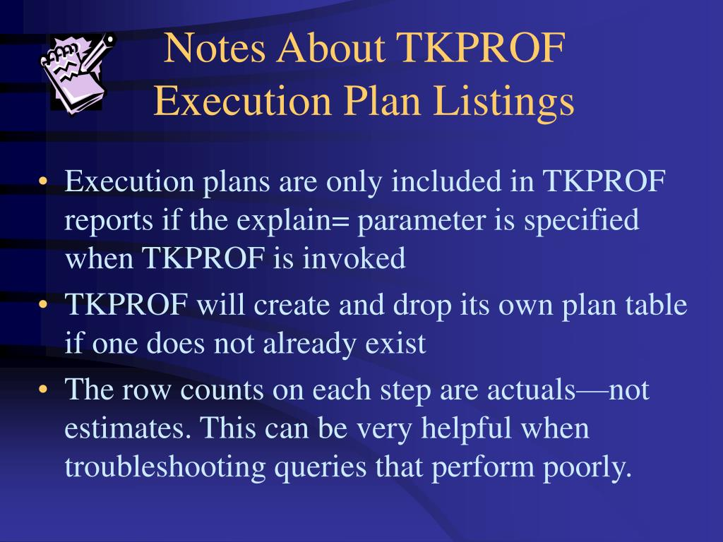 Notes About TKPROF